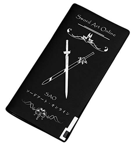 Portamonete Slim Cosstars Sintetica Wallet Piccolo Sword Sottile Anime Sao Pelle 20 Uomo Art Nero 1 Borsellino Online Portafoglio OOwqnrv1