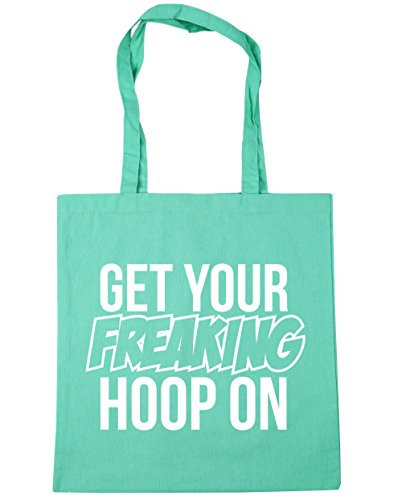 HippoWarehouse Get Your Freaking aro en bolsa de la compra bolsa de playa 42cm x38cm, 10litros verde menta