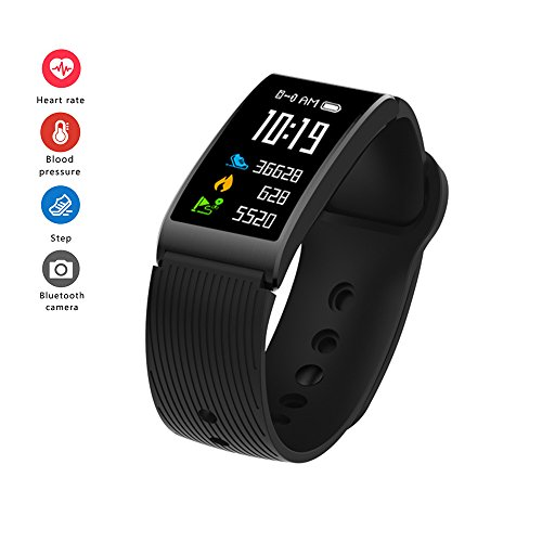 RimeU Activity Tracker Bluetooth Smartband 0.96'' Touch Screen IP68 Waterproof Sports Bracelet Wristband Pedometer Heart Rate Sleep Monitor Smartwatch for Android iOS Samsung Xiaomi LG iPhone Gift
