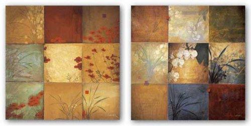 Orchid Nine Patch and Poppy Nine Patch Set by Don Li-Leger 19.75