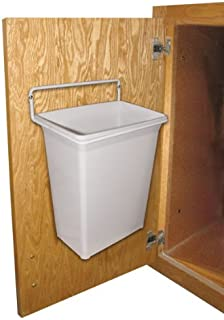 Knape u0026 Vogt DWB975-W 9 Qt Door Mounted Waste Bin White & Amazon.com: Door-Mounted Kitchen Garbage Can: Home u0026 Kitchen