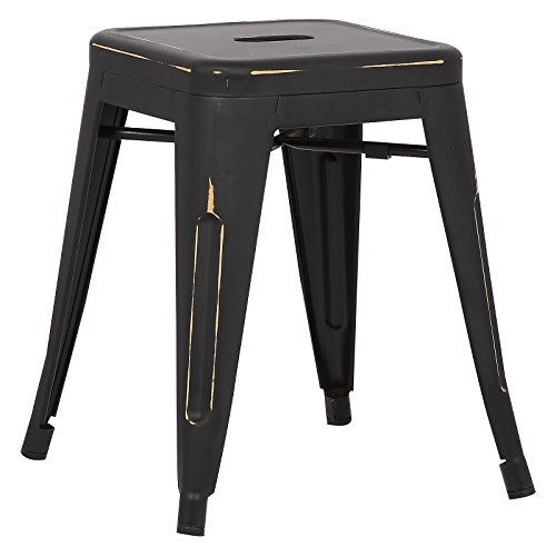 Poly and Bark Trattoria 18 Stool in Distressed Black