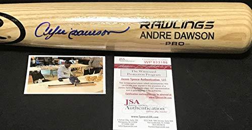 Andre Dawson Chicago Cubs Autographed Signed Baseball Bat JSA WITNESS COA Blonde ()