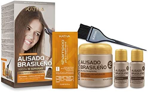 Kativa Brazilian Straightening with Glyoxylic & Vegetable Keratin − Formaldehyde Free