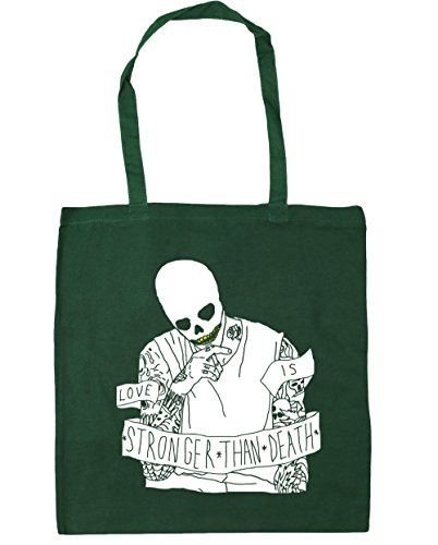 Hippowarehouse 38cm Smoking bottiglia Bag Skull Beach verde manici Skull 10 Capacità X Litri con Borsa Shopping per palestra 42cm OgqrSOdx