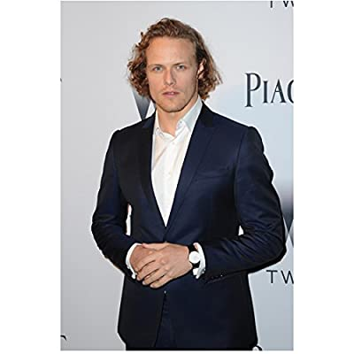 Sam Heughan Hands Clasped Looking Dapper Reserved 8 x 10 inch Photo