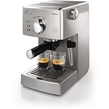 Philips Saeco HD8327/47 Poemia Top Espresso Machine, Stainless Steel