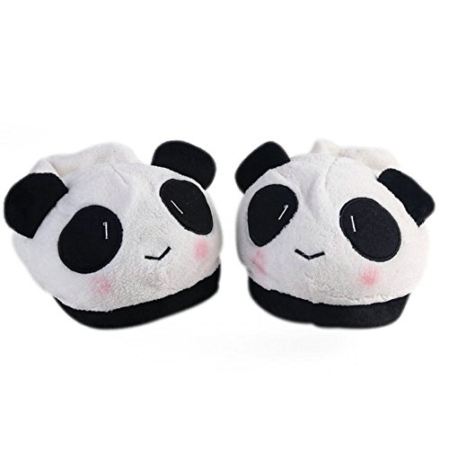 Holidayli Novelty Lovable Panda Household Spring Soft Plush Antiskid Indoor Home Slippers (Funny Household compare prices)