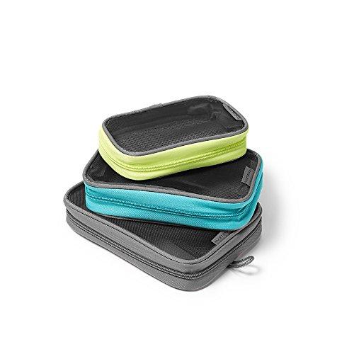 Eddie Bauer Unisex-Adult Travelon Packing Squares - Set of 3, Gray Regular...