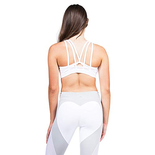 Barbells to Bombshells Heart Booty, Butt Lifting, Enhancing Stretch Leggings Workout Gym Tights Grey/White