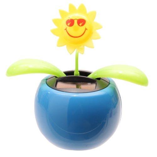 Sunflower Solar Pal Novelty Ornament, Blue by Puckator