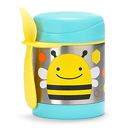 Insulated Food Jar and Spork Set For Baby and Toddlers, Stainless Steel, Monkey Skip Hop 252376