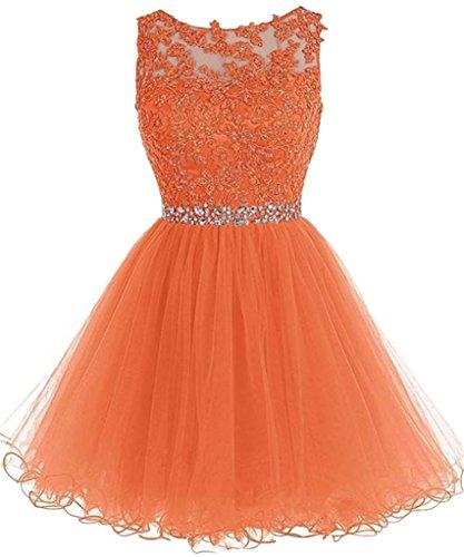 Mini A Linie Orange Partykleider Marie Silber Tanzenkleider La Tuell Ballkleider Spitze Rock Cocktailkleider Braut zqOwgAS
