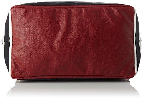 Vanessa Bruno Cabas Grand Lin Ciré Et Clous - Borse Tote Donna, Multicolore (Rouge Multicolore), 19x26x53 cm (W x H L)