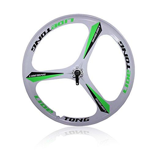 MTBリム24/26インチマウンテンバイクホイール3スポークマグネシウムアルミ合金自転車リムベアリングタイプサポートクイックリリース B07D8QK3XN 26インチ|白緑 白緑 26インチ