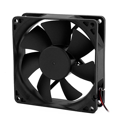 uxcell 2Pcs 92x 92x 25mm 24V CPU Cooler Heatsink Cooling Fan Black Power 3.6W by uxcell (Image #1)
