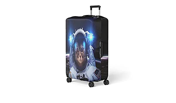 Pinbeam Luggage Cover Astronaut Cat Floats Above Earth Stars Provide the Travel Suitcase Cover Protector Baggage Case Fits 22-24 inches