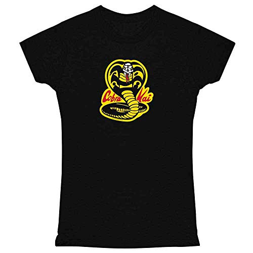 Cobra Kai Karate Kid Dojo Retro Martial Arts Black 2XL Womens Tee Shirt -