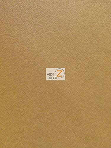 DuroLast Vinyl Pleather Grain Champion PVC Fabric DIY Fashion Accessories Furniture Upholstery 1-5-10-20-30-40-50 Yards (Tan, 5 Yards Rolled) ()