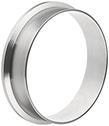 Dixon L14AM7-R600 Stainless Steel 316L Sanitary Fitting, Long Weld Clamp Ferrule, 6\