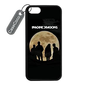 CASECOCO(TM) iPhone 5 5s Case, Imagine Dragons Case for iPhone 5&5s - Protective Hard Back / Black Rubber Sides