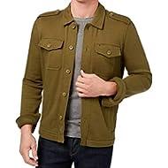 [Sponsored]Tommy Hilfiger Mens Button Down Utility Shirt Jacket