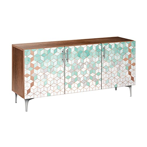 Nye Koncept 13006496 Mint & Copper Deco Arc Sideboard44; Walnut & Chrome from Nye Koncept