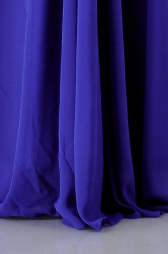 Empire Halter Longueur D'une Ligne En Mousseline De Soie Robe De Soirée Bleu Barbeau