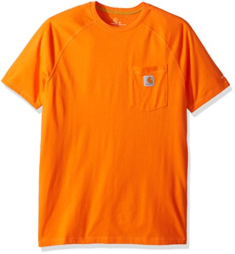 Carhartt Men's Force Cotton Delmont Short Sleeve T-Shirt (Regular and Big & Tall Sizes), Bold Orange, X-Large
