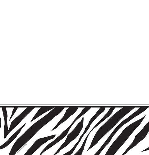 [Creative Converting Animal Print Zebra Plastic Table Cover, Rectangle 54 x 108
