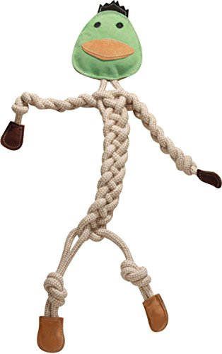 HuggleHounds Durable, All-Natural Rope Knotties, Duck, Super Size