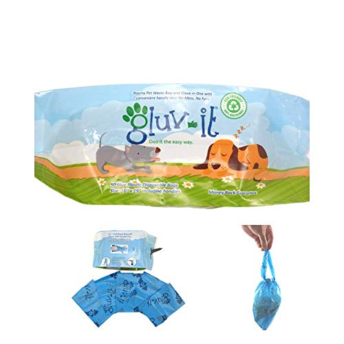 Gluvlt 2 in 1 Dog Waste Bags, Poop Bags with Clean and Easy Handle Ties. #1 Dog Pickup. Fits All Hand Sizes. Once You…