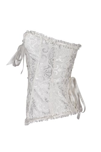 Bianco CO Size S donne Busiter tazze della Plus con corsetto 6XL maglia le E Delle del SHINE aq7UaxT