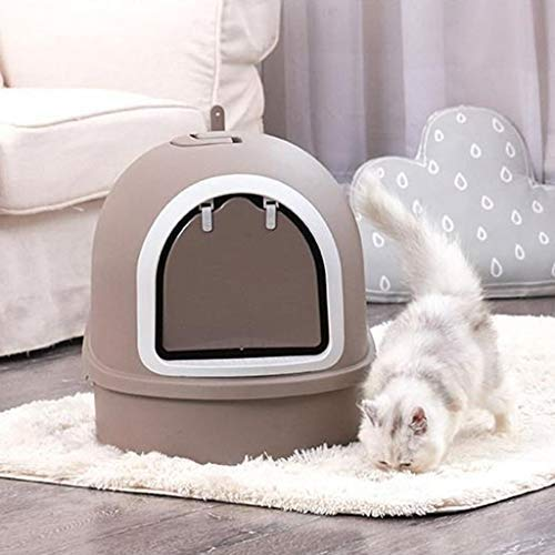 Pet Supplies Cat Toilet Never Bend Hygienic Odour Free, Dog Litter Boxes Can Load Litter Inside, Toilet Filter Portable with Separating System for Quick and Easy Cleaning