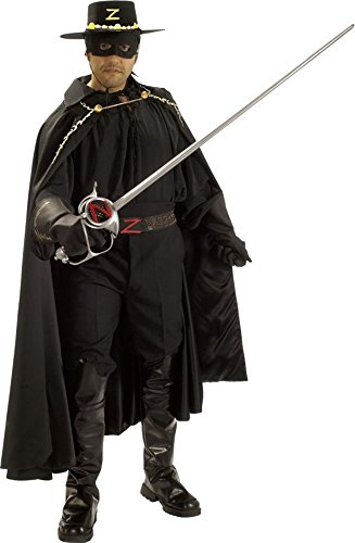 UHC Men's Deluxe Grand Heritage Complete Zorro Theme Party Costume, XL (44-46)