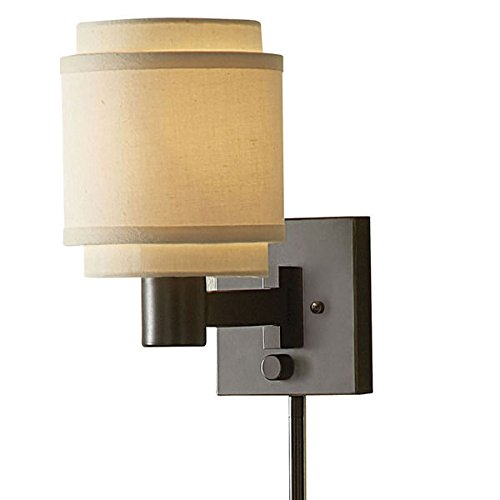 Aztec Lightning Transitional 1-light Oil Rubbed Bronze Swing Arm Pin-up Plug-in Wall Lamp -