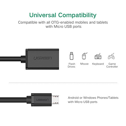 Ugreen Micro Usb 2 0 Otg Cable On The Go Adapter Male