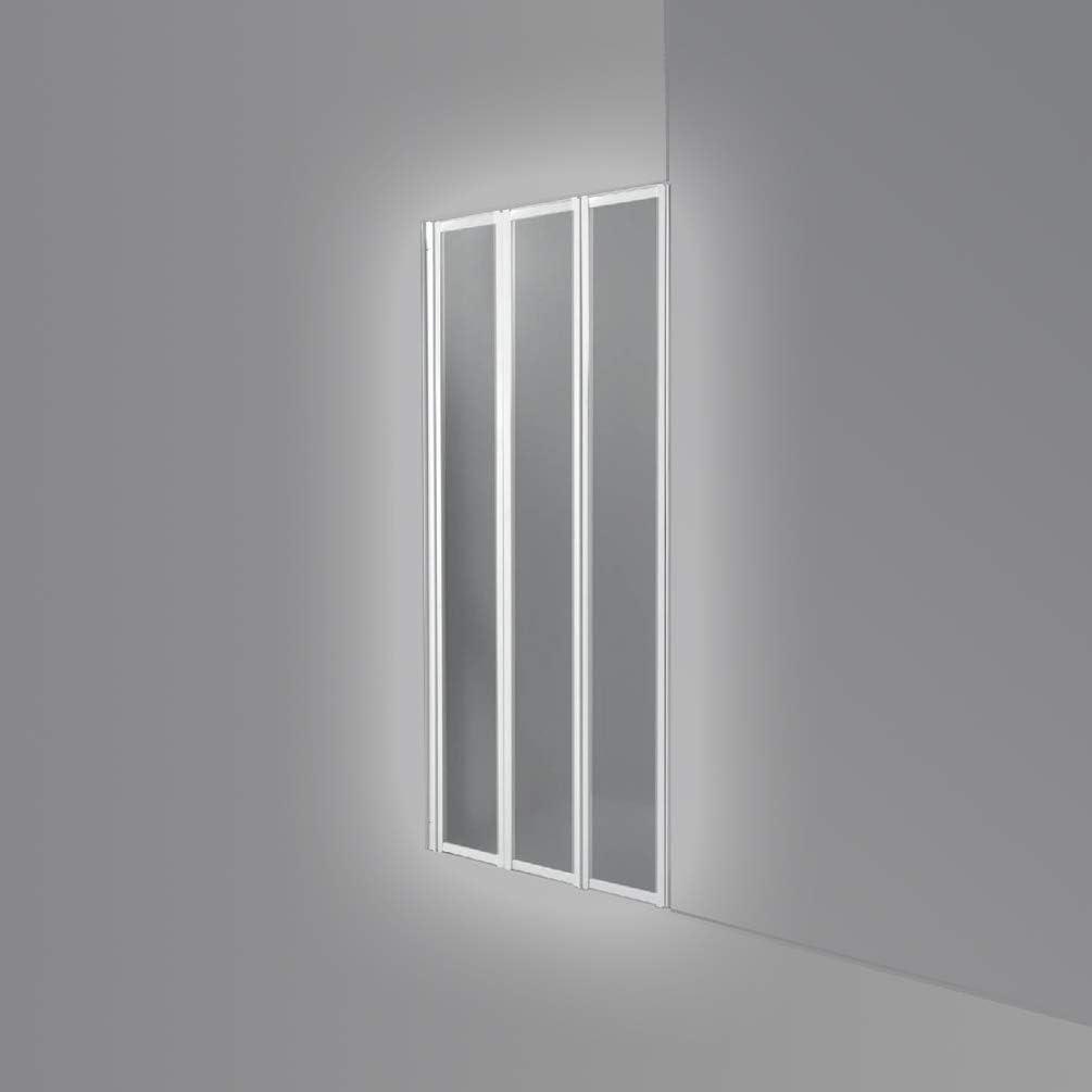 Cabina de ducha con 3 puertas de PVC, medidas 118-120 cm: Amazon ...