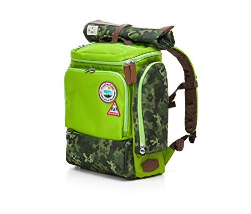 Muster bag Kids Backpack + Cross Bag Set - Trendy Camouflage Pattern School Backpacks For Girls Boys Kids Elementary Middle School Bags Cute Bookbag Outdoor Daily bag (Green) by Muster bag (Image #4)