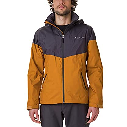 Columbia Herren Inner Limits Regenjacke, Gelb/Grau (Burnished Amber, Shark), L 1
