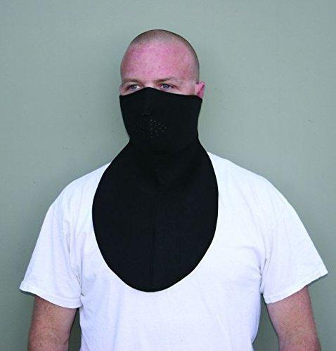 Zanheadgear Neoprene Half Mask with Neoprene Neck Shield, Black