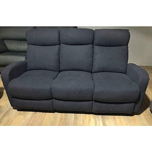 Sofá de Tres plazas con 2 Relax Manual Modelo Fredy Color ...