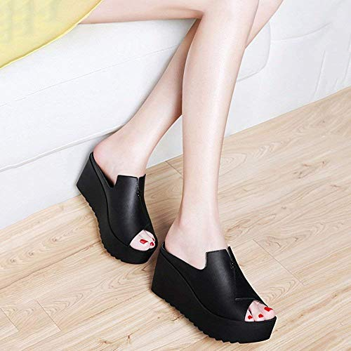 Libre Femenina Eu35 Blanco Shoes uk3 color Out Gruesa Negro Muffin Wear Fashion 2018 Tamaño Slope Summer Al Zapatillas cn34 Fish Cool Con Joker Bottom Aire ftx17W