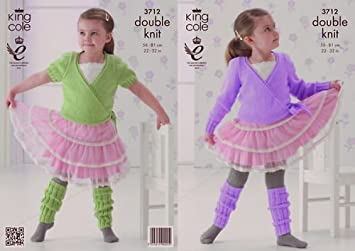 a0909a121814 King Cole Knitting Pattern 3712   Girl s Legwarmers and Ballet ...