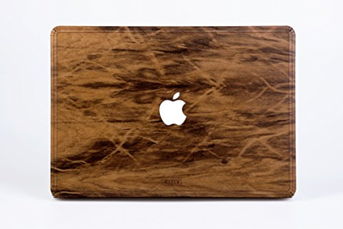 WOODWE Real Wood MacBook Case Cover Skin Sticker Decal for Mac Pro 15 inch Non Retina Display | with CD Drive; Model: A1286; Late 2008 – Mid 2012 | Genuine & Natural IMBUIA Wood | TOP Cover by WOODWE