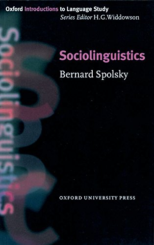 Sociolinguistics (Oxford Introduction to Language Study Series)