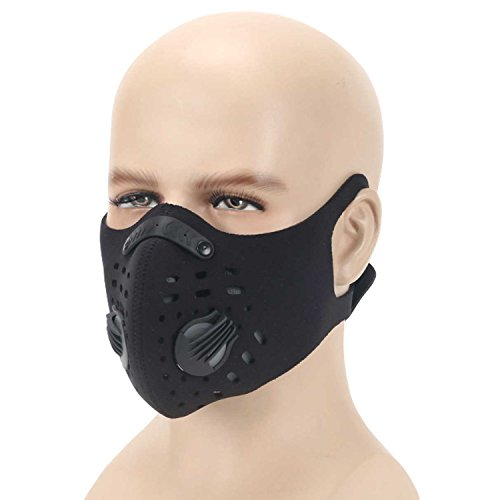 Anqier Dust Mask,Newest Activated Carbon Dust Proof Pollution Respirator Fack Mask for Exhaust Gas Anti Pollen Allergy PM2.5 Running Cycling Outdoor -