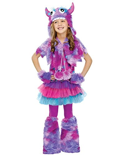 Girls Monster Halloween Costume (Big Girls' Polka Dot Monster Costume -)