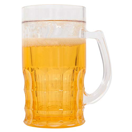 Tricky Beer Mug used by internet celebrities creative double interlayer environmental protection plastic material