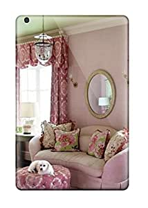 FeFWBpN2416sWfEf Case Cover Protector For Ipad Mini/mini 2 Pink And Green Girls Bedroom With Upholstered Walls White Bed And Maltese Puppy Lounging On Pink Couch And Ottoman Case